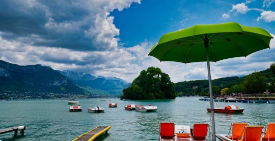 pedalos on lake annecy cycling france